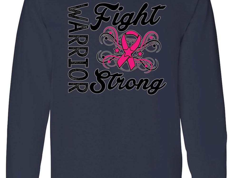Unisex Warriors Fight Strong Breast Cancer Awareness Long Sleeve Shirt