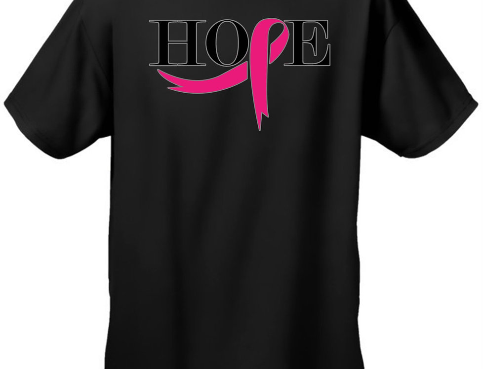"Unisex ""Pink Ribbon of Hope"" Breast Cancer Awareness""  T-Shirt"