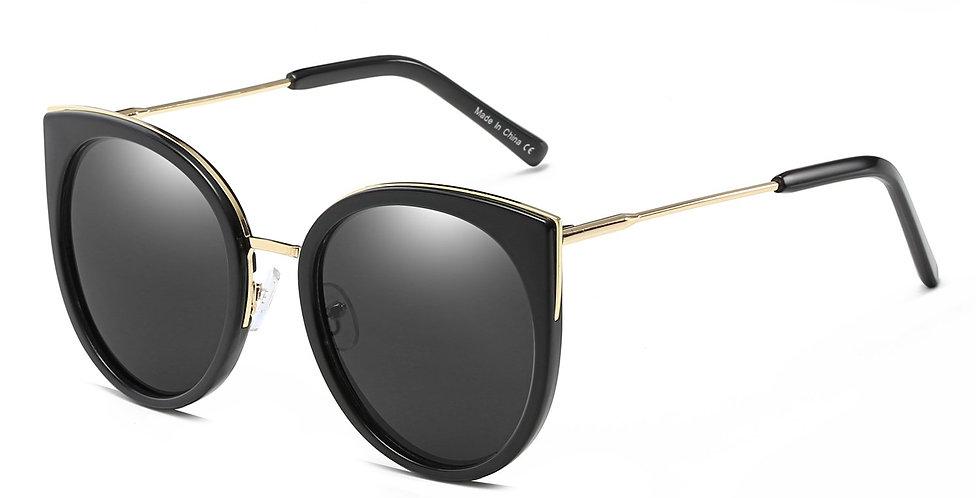 HOLMDEL | CD09 - Women's Iconic Mirrored Lens Cat Eye Sunglasses