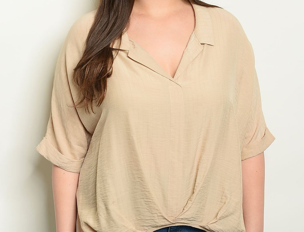 Sand Plus Size Top