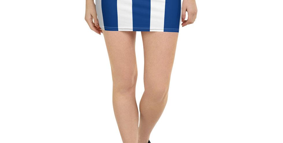 Blue & White Mini Skirt