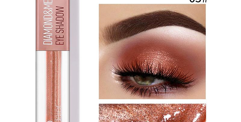Pudaier Diamond Shimmer & Glow Liquid Eyeshadow | Matte Finished - Color #05
