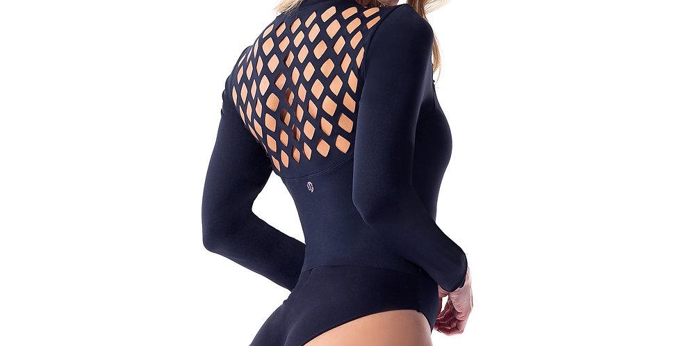 Secrets Black Long Sleeve Bodysuit