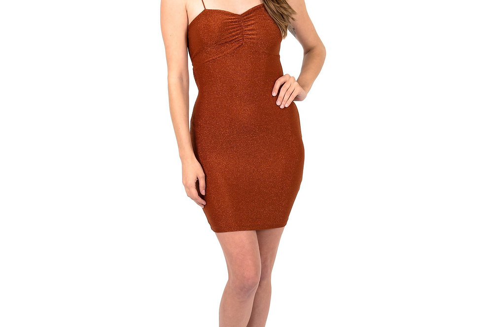 Janice Sparkle Sleeveless Mini Dress