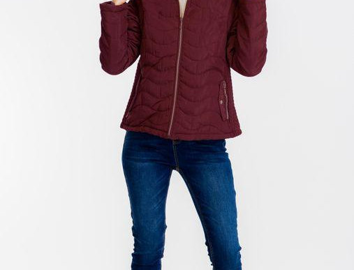 Emmie Faux Fur Puffy Jacket Red