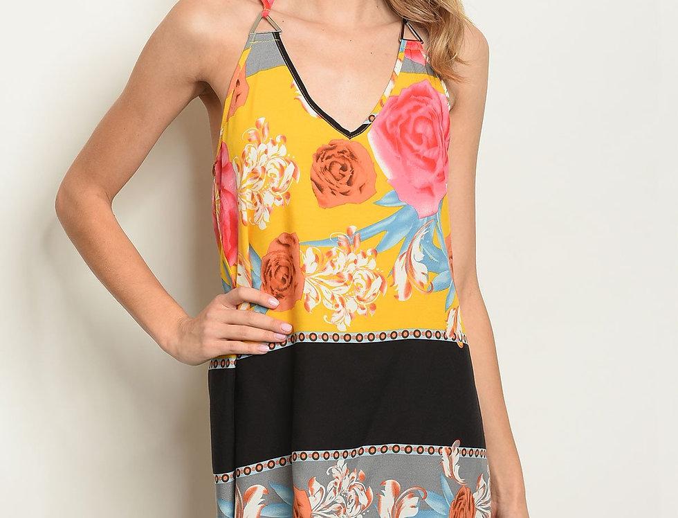 Womens Floral Print Dress