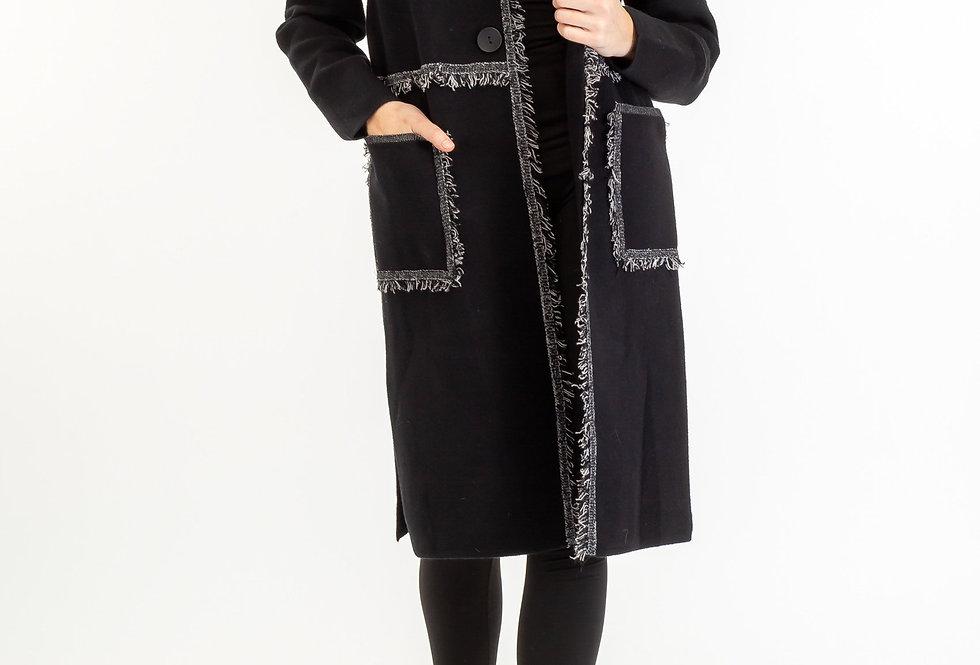 4699 Chloe Fringed Long Jacket