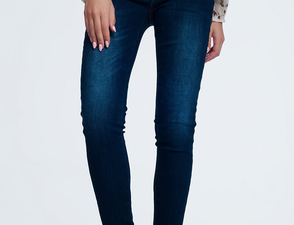 Gold Side Detail Jeans