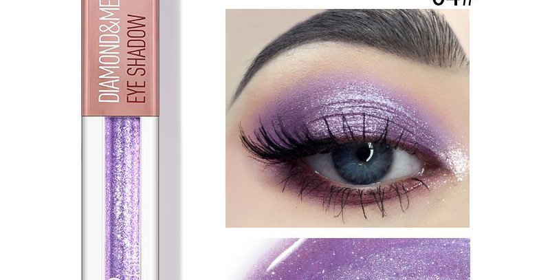 Pudaier Diamond Shimmer & Glow Liquid Eyeshadow | Matte Finished - Color #04