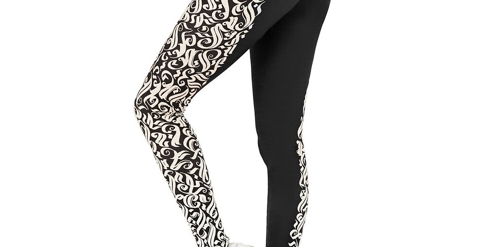 Black & Silver  Soft and Stretchy Leggings