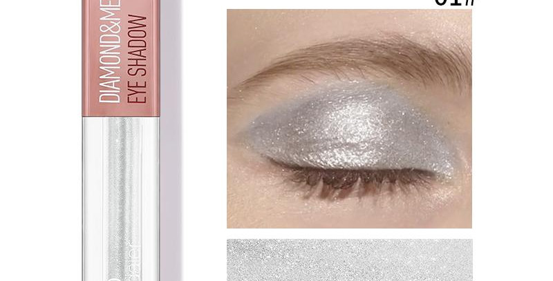 Pudaier Diamond Shimmer & Glow Liquid Eyeshadow   Matte Finished - Color #01