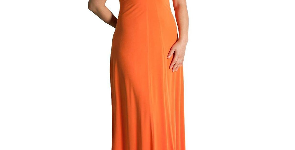 Evanese Women's Plus Size Elegant Cross Tie Halter Long Formal Party Dress