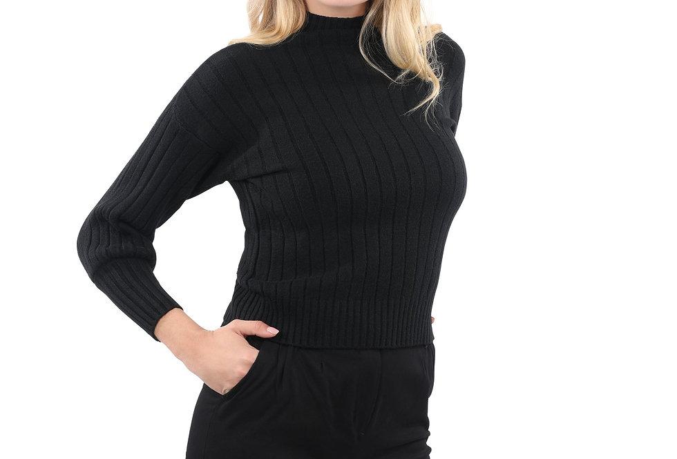 Pickfair Ribbed Sweater Top