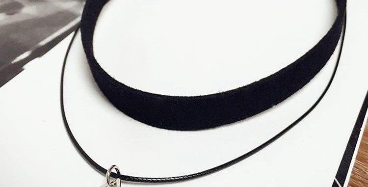 Geo Triangle Choker Necklace