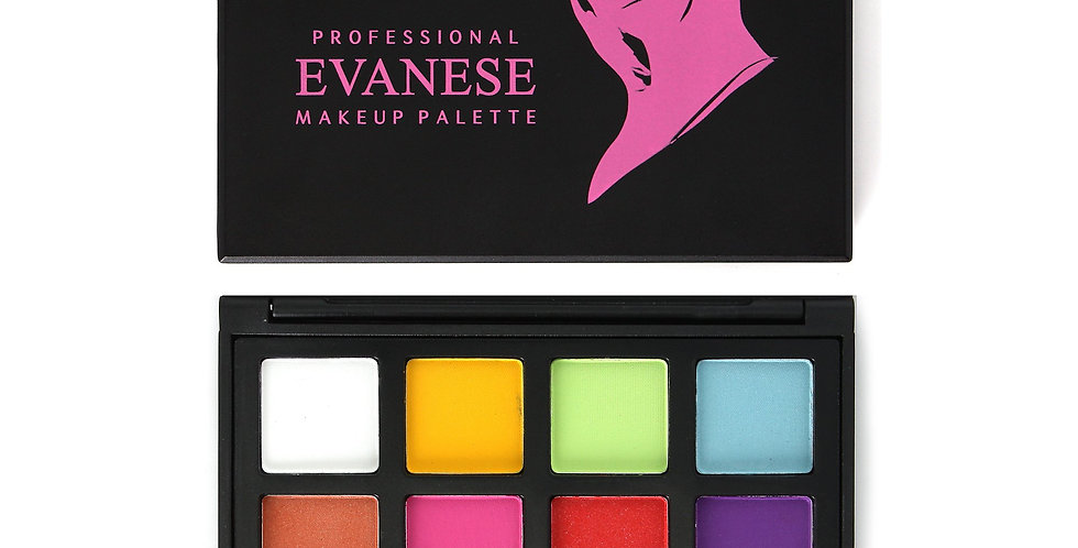 Evanese Professional Beauty Makeup 12 Color High Pigment Eyeshadow Palette Pink