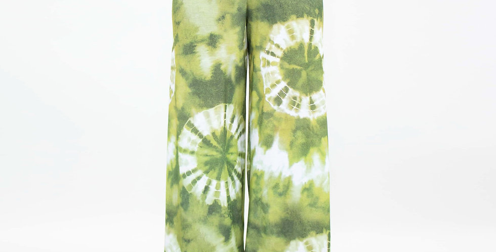 Wide Leg High Waist Tie Dye Maxi Pants