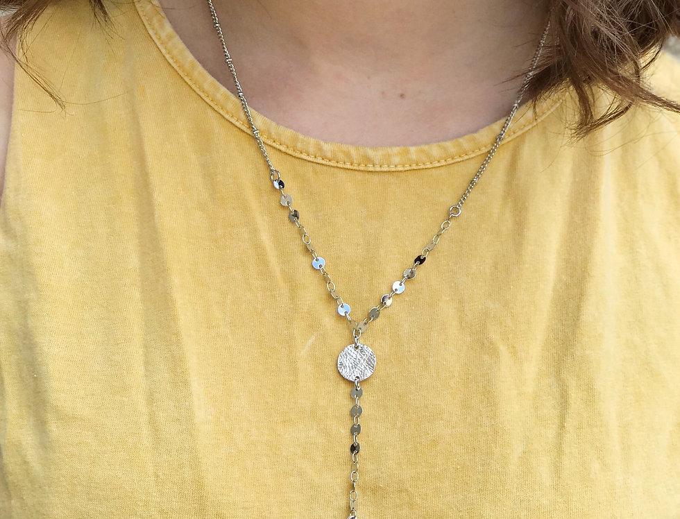 Dangle Cross Necklace, Silver