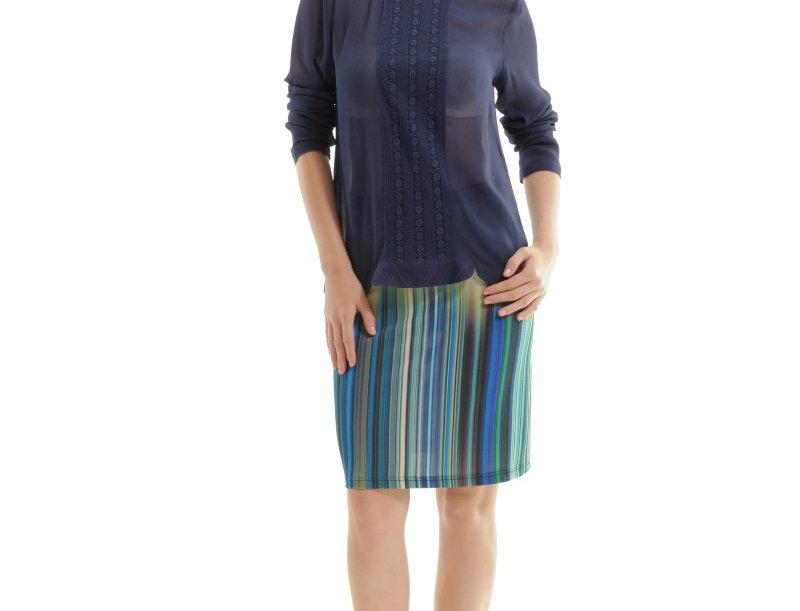 Print a Line Skirt