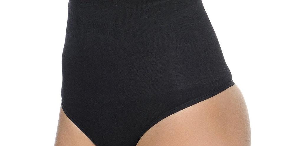 Seamless Hi-Waist Shaper With Thong Bottom Black