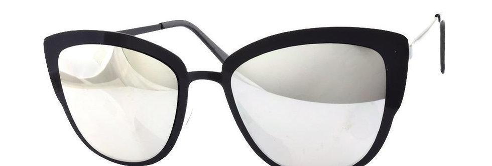 Black Metal Mirror Sunglasses