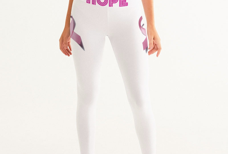 Breast Cancer Awareness Ribbion Women's Yoga Pants