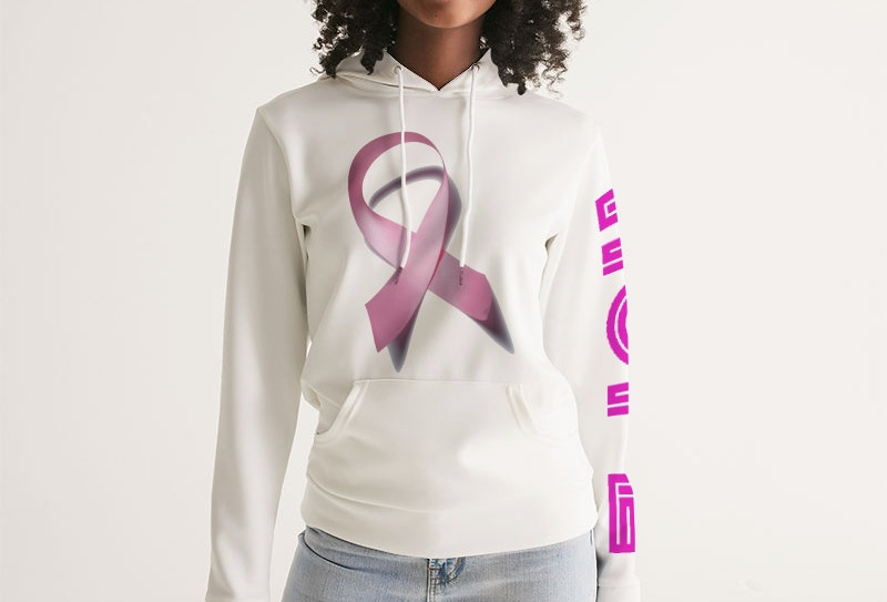 Breast Cancer Awareness Ribbion Women's Hoodie