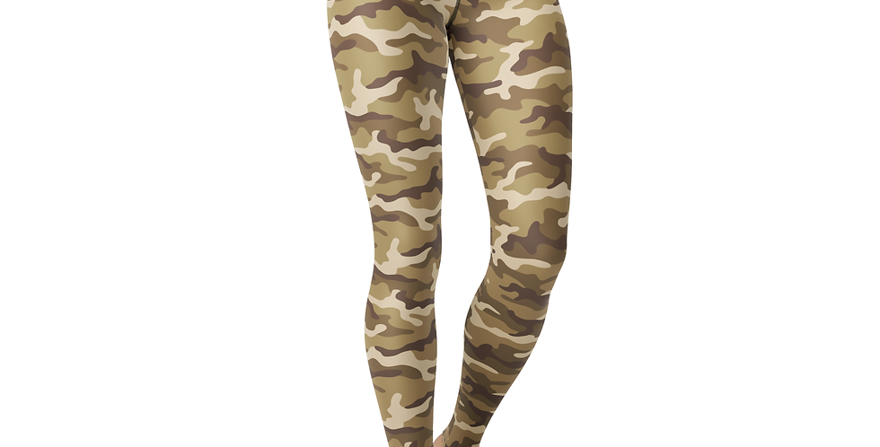 Leggings Tan Camo