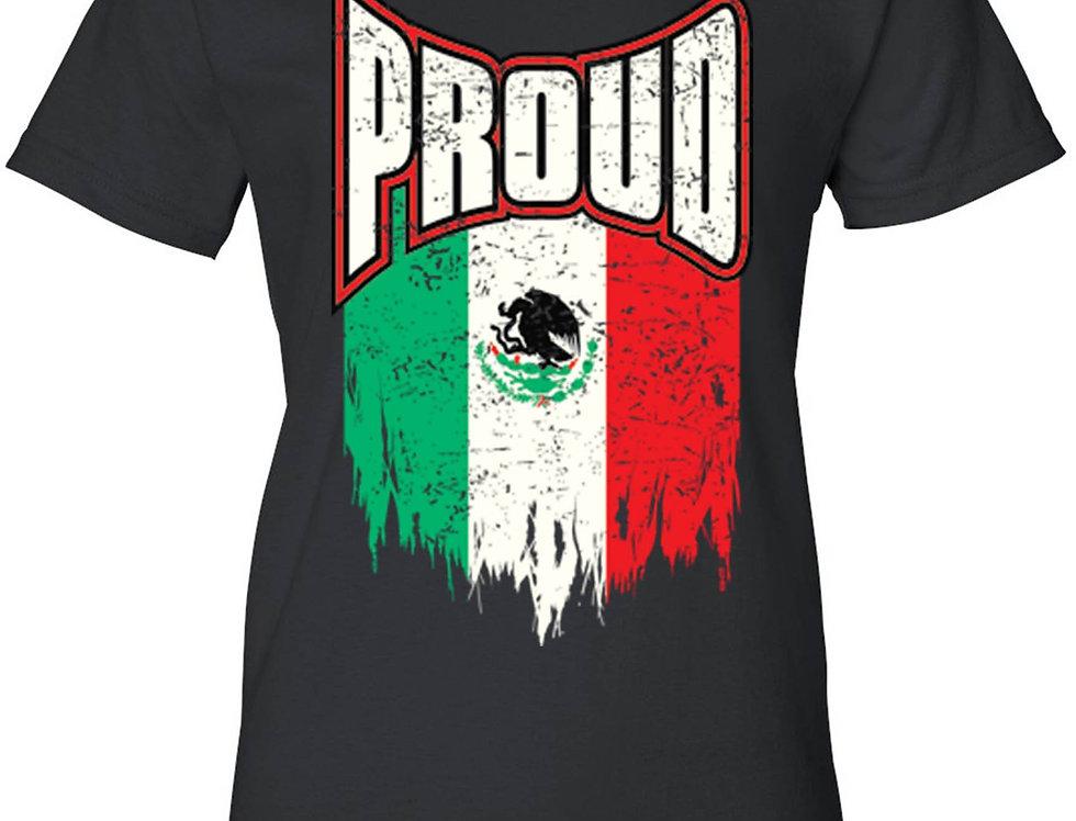 Women's Proud Mexican Flag Juniors T-Shirt