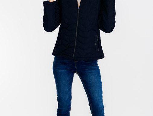 Emmie Faux Fur Puffy Jacket Navy