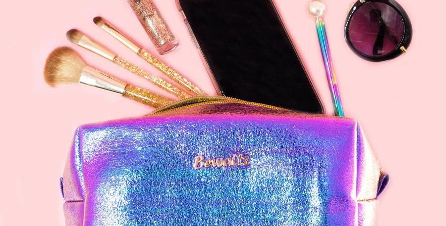 Metallic Makeup Bags