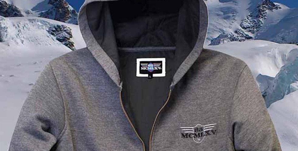 Men's Fleece Zip Hoodie in Charcoal