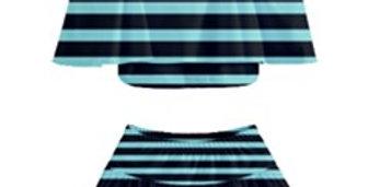 (Girls) Off Shoulder Skirt Bikini