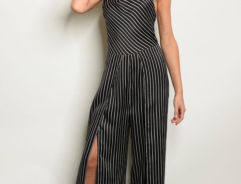Black Stripes Jumpsuit