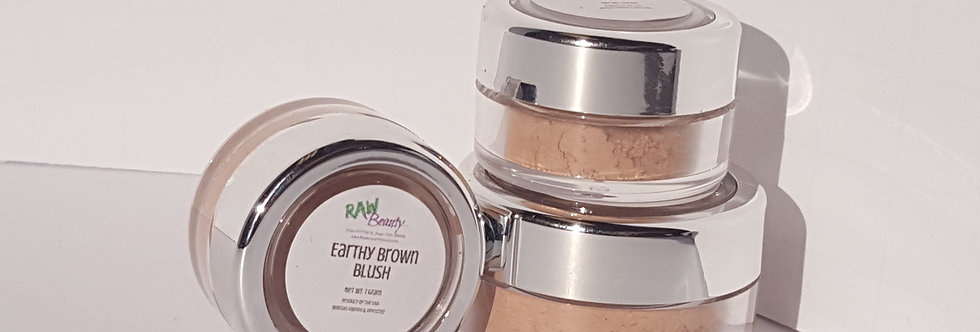 Vegan Blush Makeup | Earthy Brown | Raw Beauty Minerals