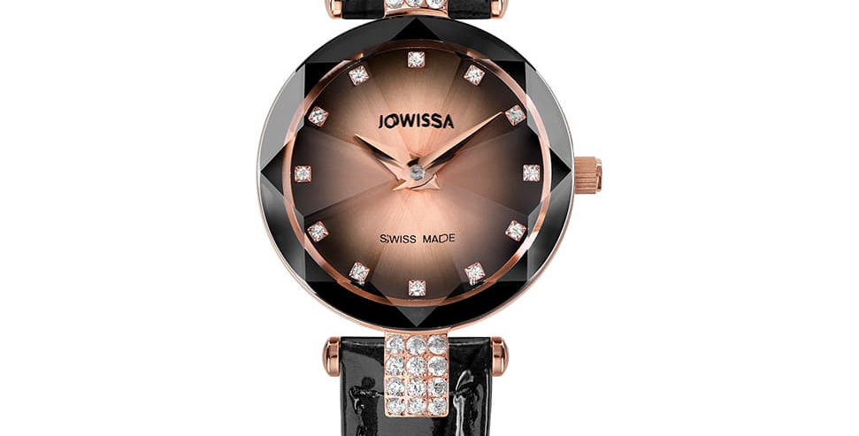 Facet Strass Swiss Ladies Watch J5.651.S