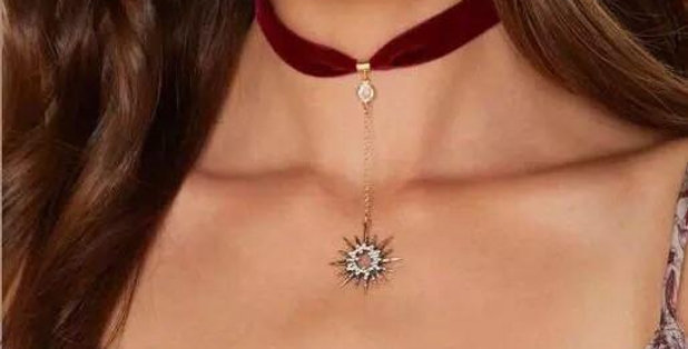 Retrograde Sun Red Choker Necklace
