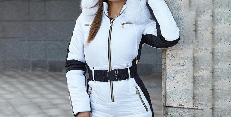 Winter Women's Hooded Jumpsuits Parka