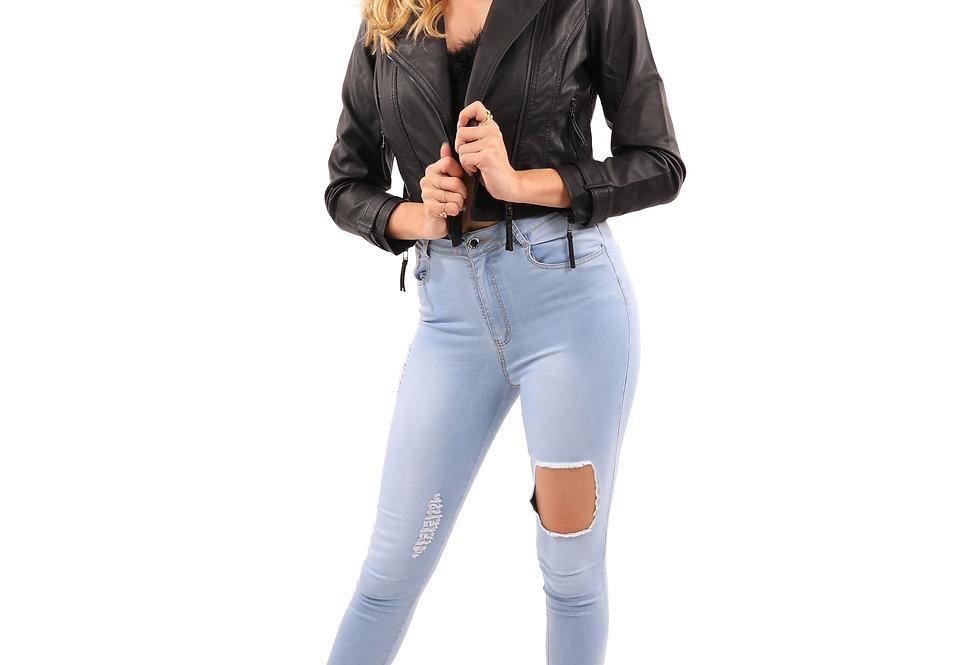 Altridge Vegan Leather Moto Jacket