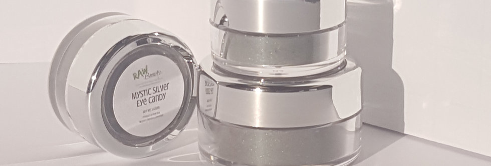 Natural Eye Makeup | Mystic Silver | Raw Beauty Minerals