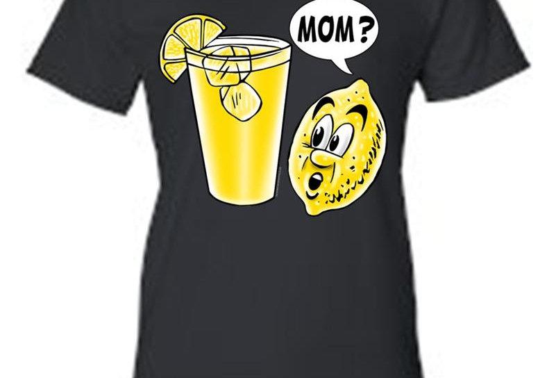 Juniors Funny Lemon Kid: Mom? T-Shirt