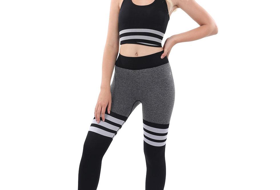 Cassidy Legging & Sports Bra Set - Black & White