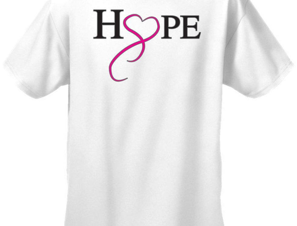 Unisex T Shirt Breast Cancer Awareness Hope & Love