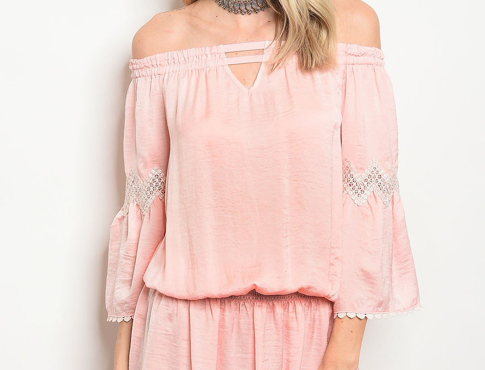 Winters Night Pink Dress