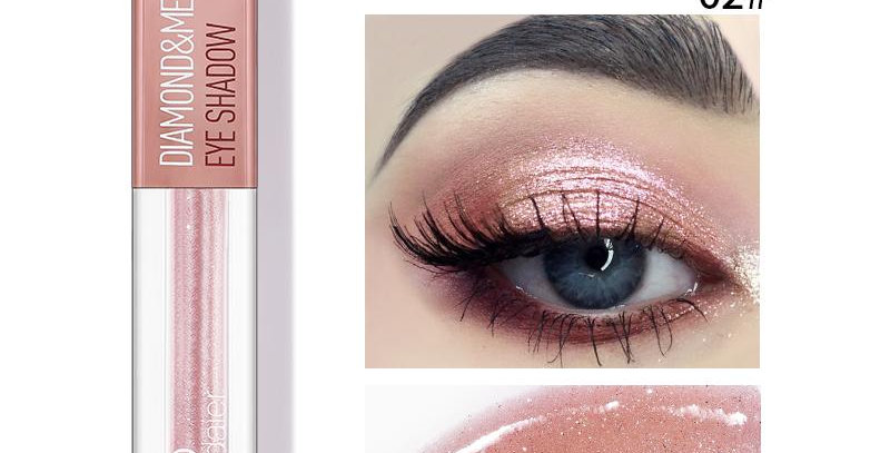 Pudaier Diamond Shimmer & Glow Liquid Eyeshadow | Matte Finished - Color #02