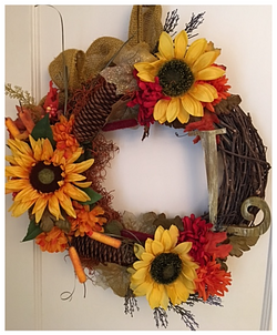 Natural and Rustic Sunflower Wreath
