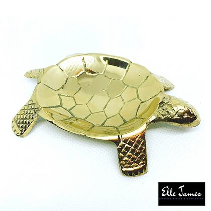 Brass Turtle sage/ Incense holder