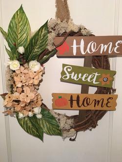 Home Sweet Home Custom Wreath