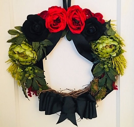 Elle James Black History Month Wreath red black and green