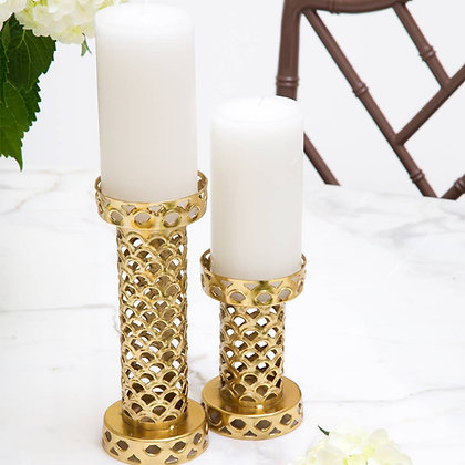 Small Geo Candle Pillar