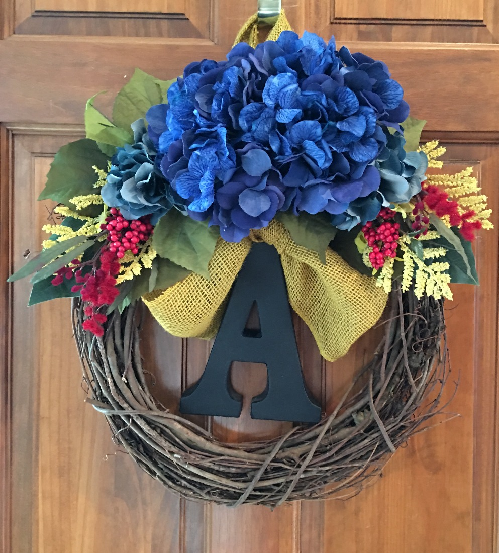 Blue, Yellow and Red Custom Wreath